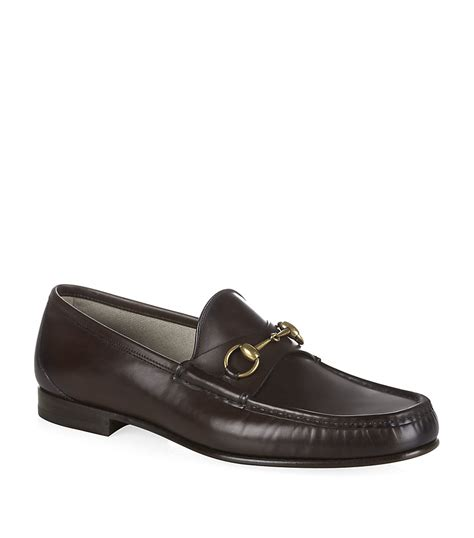 loafers in leather gucci horsebit leather loafer in black for lyst