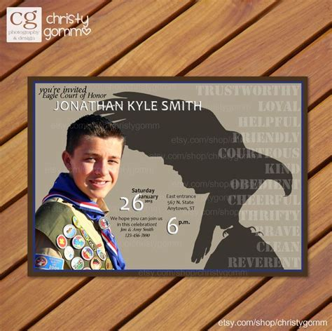 eagle scout thank you card template 10 images about scouts eagle scout invitations on