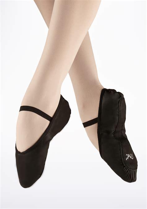 move sole leather ballet shoe black move dancewear 174