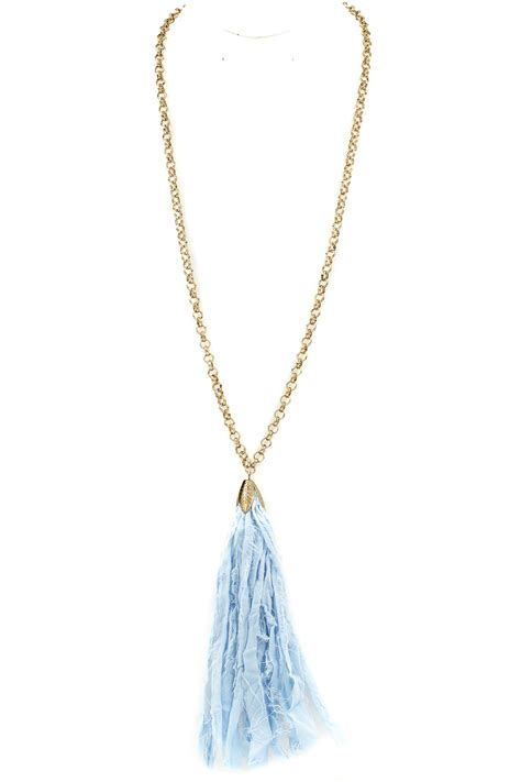 Tassel Necklace fabric tassel necklace necklaces
