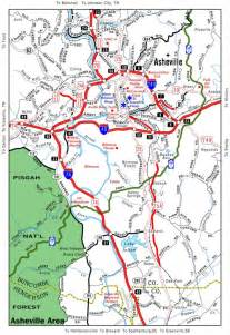 map of asheville carolina and surrounding areas