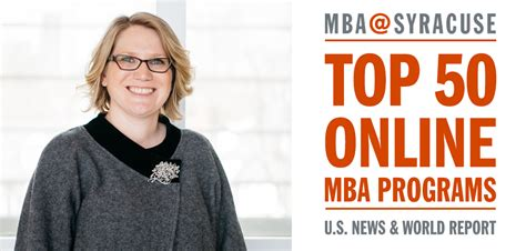 Top 50 Mba Programs by U S News Gives Ranks Mba Syracuse 47 Whitman Voices