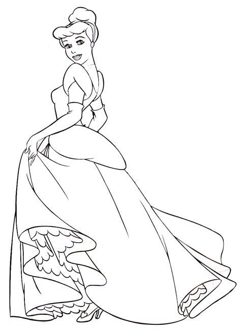 imagenes a blanco y negro de princesas dibujos para colorear cenicienta cinderella