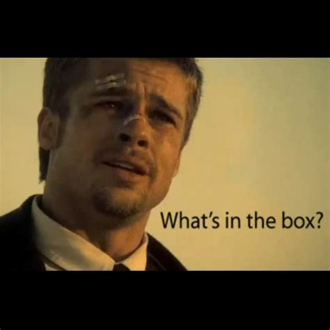 film quotes seven seven what s in the box the arts