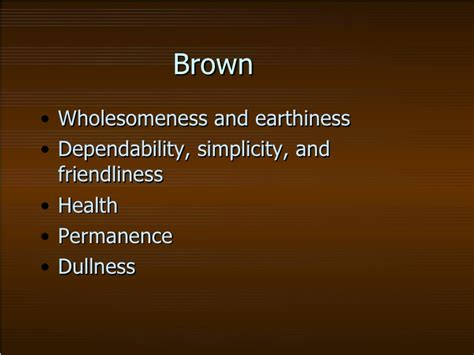 color brown meaning symbolism