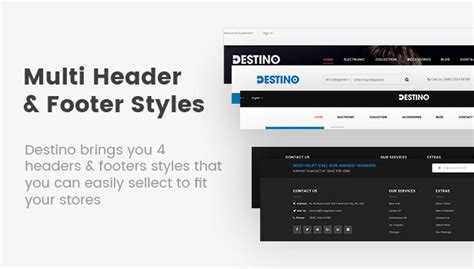 html5 layout header footer destino responsive multi purpose html5 template