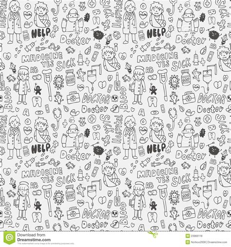 doodle doctor who doodle doctor element seamless pattern royalty free stock