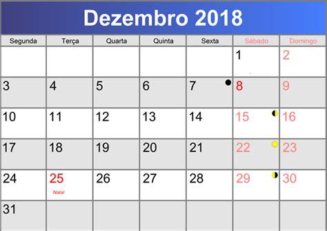 Calendario Dezembro Calend 193 2018 Feriados E Datas Comemorativas 2018