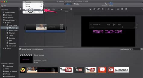 tutorial imovie audio adding markers to imovie project timeline tutorial for