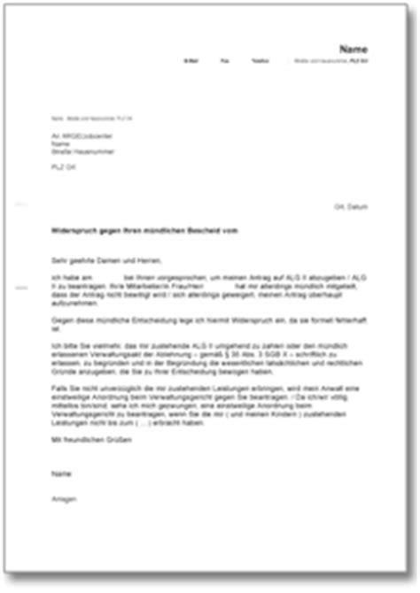 Musterbrief Einspruch Nebenkostenabrechnung Widerspruch Gegen Einen M 252 Ndlichen Ablehnungsbescheid De Musterbrief