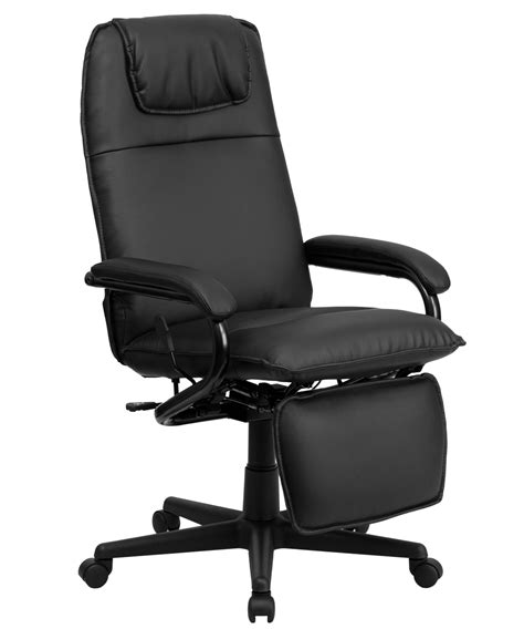 reclining executive office chair flash furniture high back black leather executive