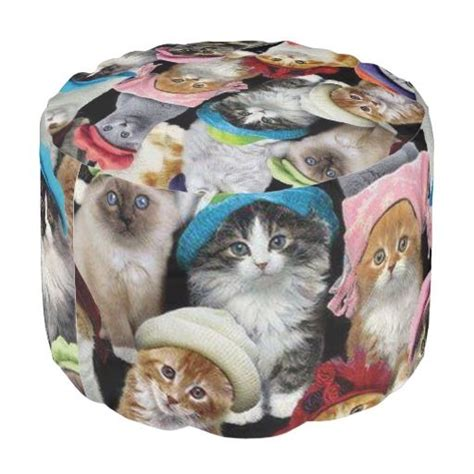26 Best Images About Ottoman Poufs From Zazzle On Cat Ottoman