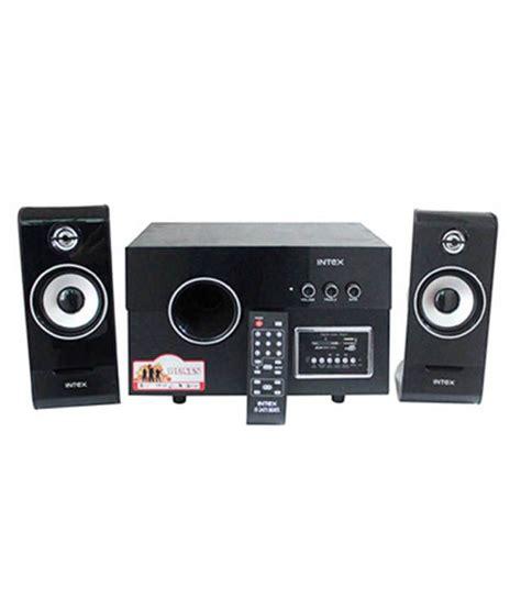 buy intex it 2475 2 1 channel 1200 watts home theatre