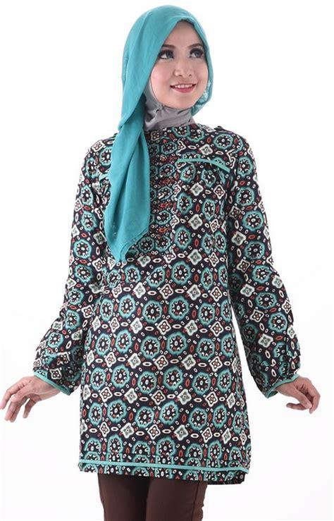 design batik remaja modern muslim aneka contoh model baju batik muslim design gambar terbaru