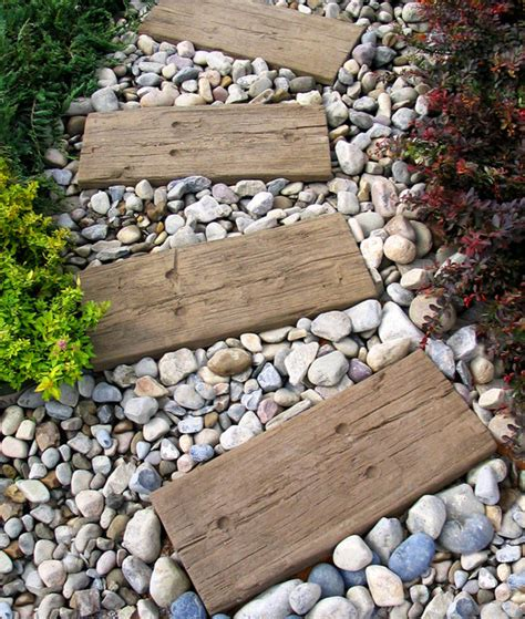 Log Sleepers by Stepping Stones Log Sleepers Modern Garden New York