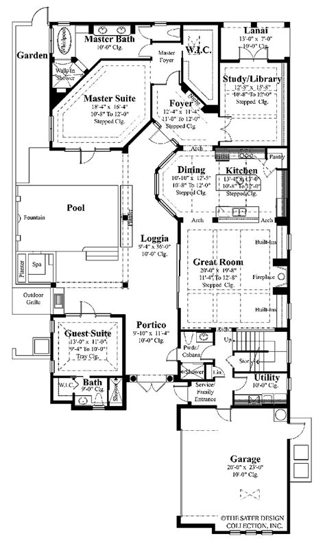mediterranean house plans with courtyard mediterranean house plans dhsw53146 house building plans