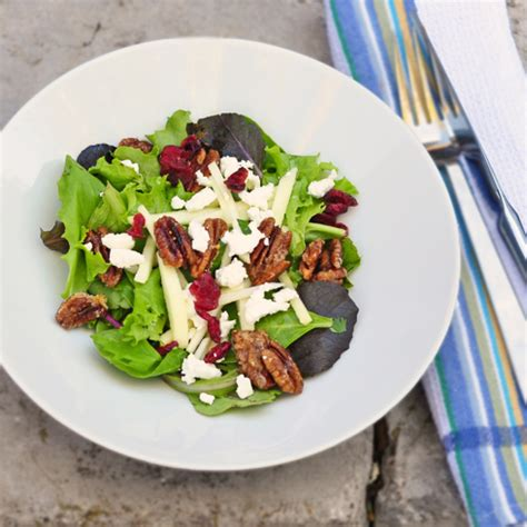 Essential Pepin: Composed salad of greens, goat cheese and