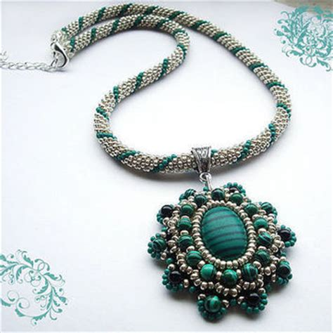 bead crochet rope necklace with from rebekejewelryshop on
