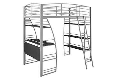 metal frame bunk bed with desk dhp studio loft bunk bed desk and bookcase with metal