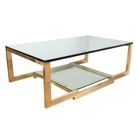 Rectangular Brass And Glass Coffee Table Coffee Tables Glass And Coffee Table