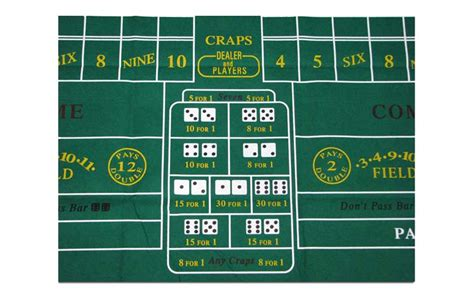 craps table layout green craps layout for sale