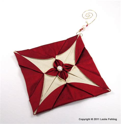 Origami Ornaments Patterns - everyday artist silk origami ornaments
