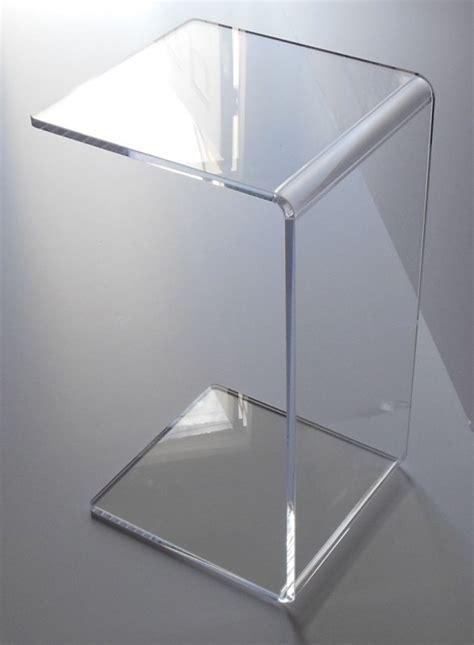 clear acrylic side table clear acrylic end table foter