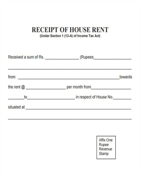 Acknowledgement Letter For House Rental rent receipts template ideas resume ideas