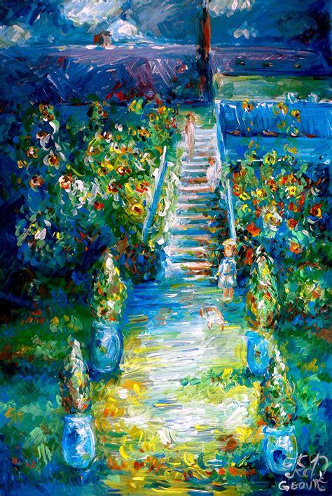 biography of artist claude monet quot my version of claude monet s painting the artist s garden