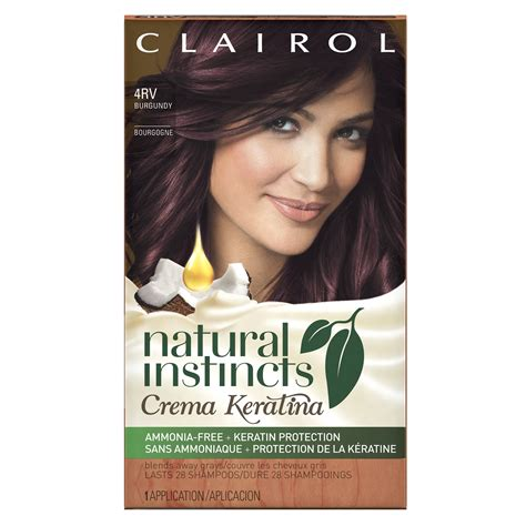 clairol instincts colors clairol instincts 4rr 20r malaysian