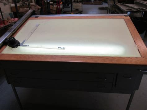 Backlit Drafting Table Lighted Drafting Table Abi 286 Mechanical Contractor Equipment K Bid