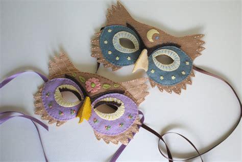 Felt Owl Mask Template