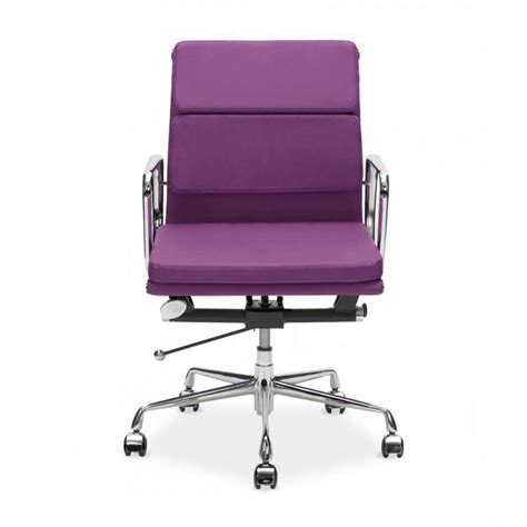 purple office furniture purple eames back soft pad executive office chair cult uk