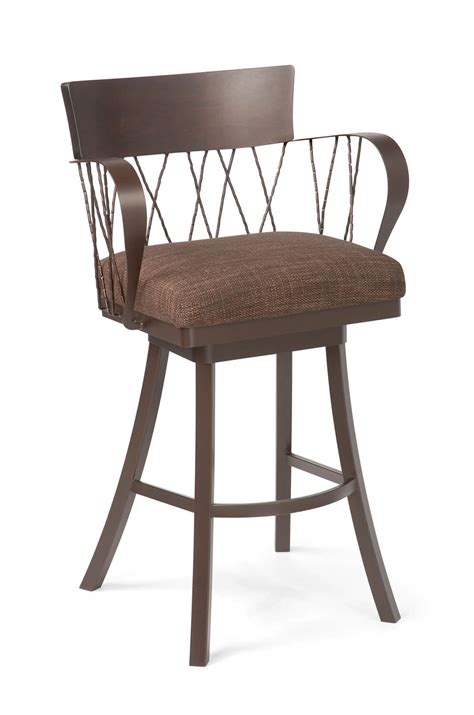Wide Swivel Bar Stool by Bambusa Wide Swivel Counter Or Bar Stool W Arms Free