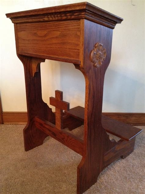 traditional oak prayer kneeling bench prie dieu