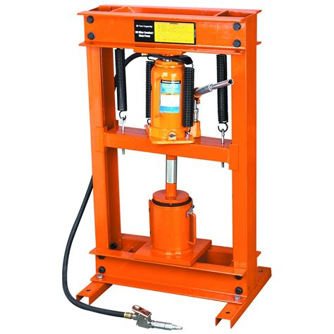 1 Ton Hydraulic Floor Press by Air Hydraulic Shop Press W Filter Crusher 20 Ton
