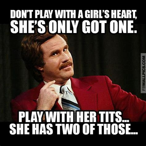 Pissed Off Face Meme - ron burgundy playing with a girl meme facebook wall pic