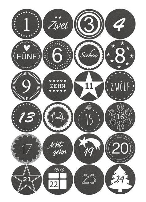 Sticker Zahlen Adventskalender by Adventskalender Sticker Zahlen 1 24 Schieferoptik