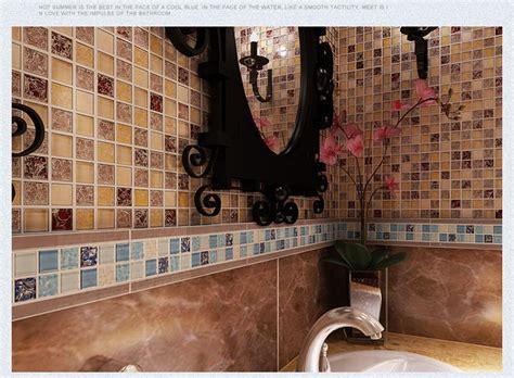 Tile Border Living Room Mediterranean Glass Mosaic Ceramic Tile Borders Living