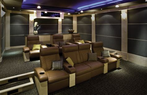 comfortable home theater seating tips for installing a home theater inside a basement or
