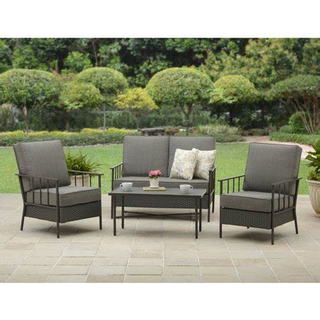 walmart better homes and gardens furniture better homes and gardens fairwater 4 conversation set walmart