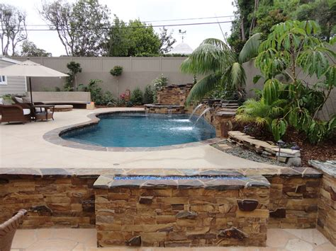 Backyard Pool And Spa Entertainment Backyard With Pool And Spa Gemini 2 Landscape Construction