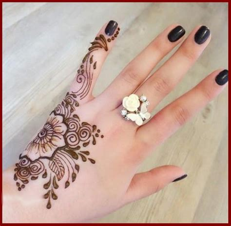 design henna kaki simple simple henna designs for hands for beginners hennas
