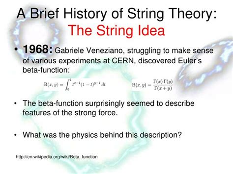 History Of String - ppt string theory is retarded an objective analysis