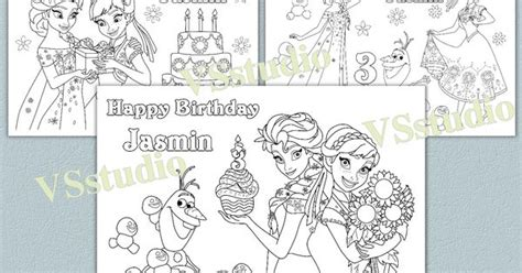frozen coloring pages birthday personalized frozen birthday coloring pages