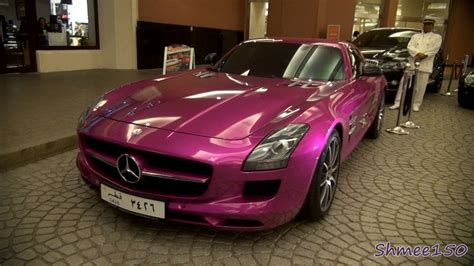 pink mercedes foil pink mercedes sls amg walkaround and startup in