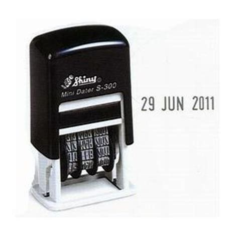 S 400 Stempel Tanggalan Shiny Self Inking self inking date sts