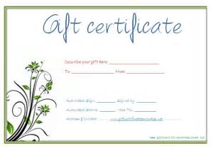 Free Printable Gift Certificates Template Pics Photos Gift Certificate Template Printable Gift