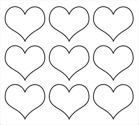 printable templates hearts printable valentine heart cutouts designcorner