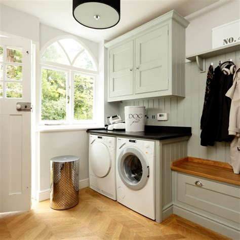 kitchen laundry ideas pale blue and wood utility room kitchen decorating ideas